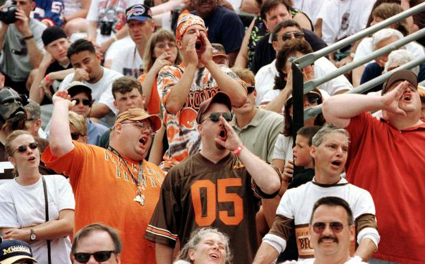 Cleveland Browns fans in the crowd during the intr