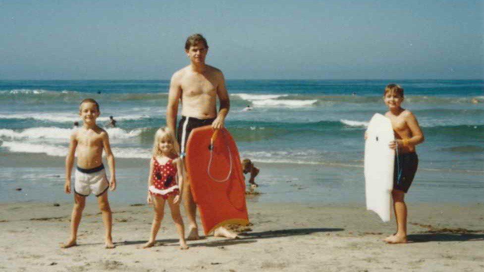 Brian, Katie, Dave, and Brent - Zuma Beach 1987