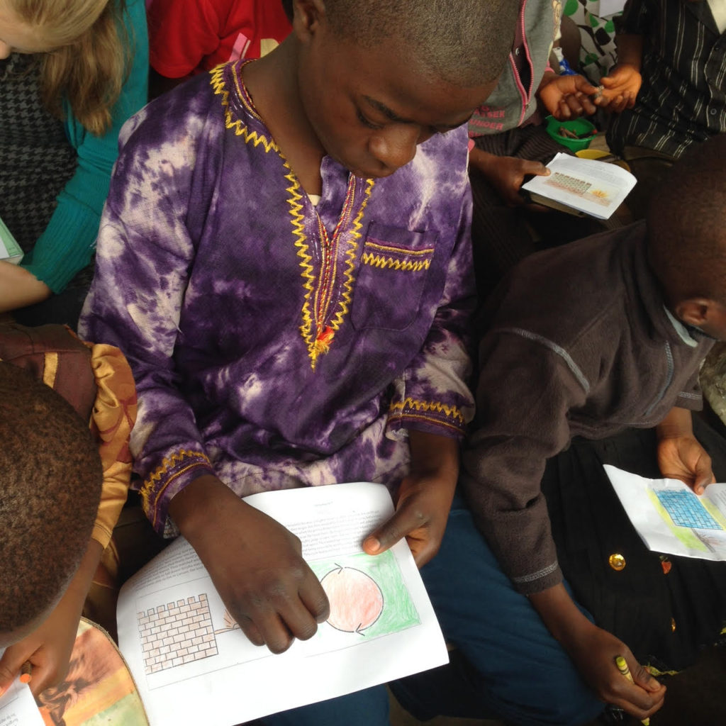 Child in Cameroon Coloring Bible StoryBoards