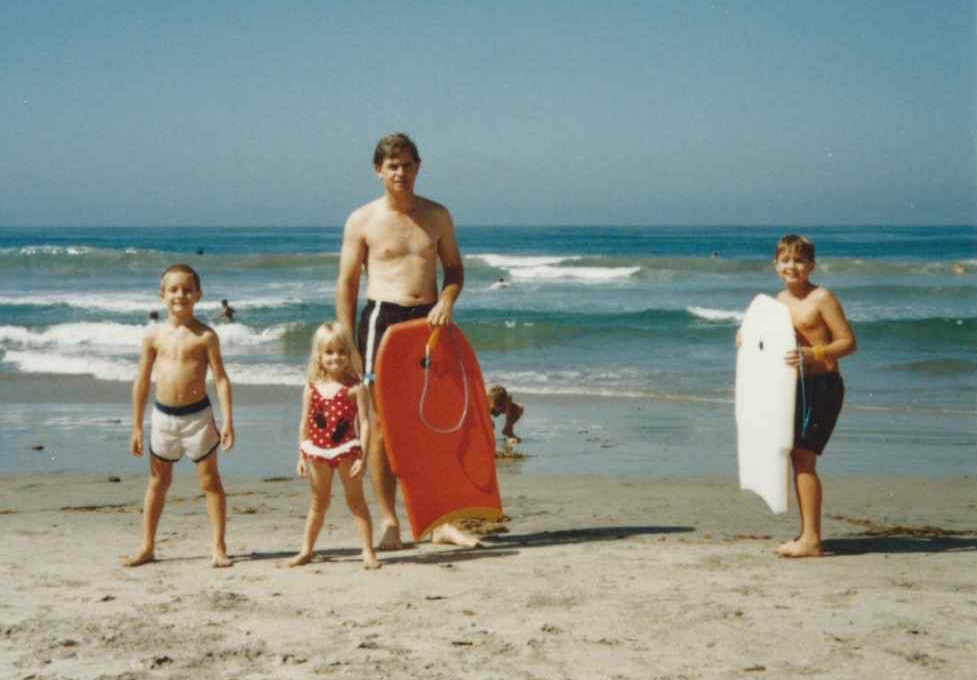 Brian, Katie, Dave, and Brent - Zuma Beach 1987